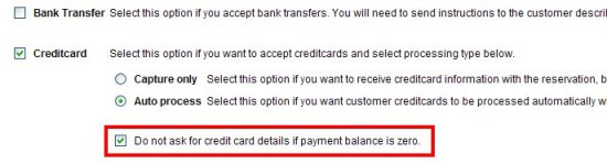 No payment if balance is zero