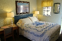 Our queen rooms feature comfortable sleeping for one or two.  This is Room 1.