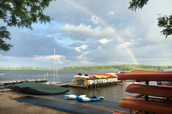 Rainbow over Lake Wingra