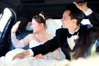 Limousine w/ married couple
