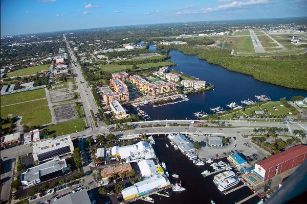 Aerial View of Naples Bay,  Naples, FL