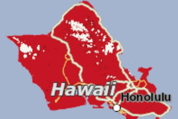 Verizon's Superior 4G Coverage on the island of Oahu. Hawaii