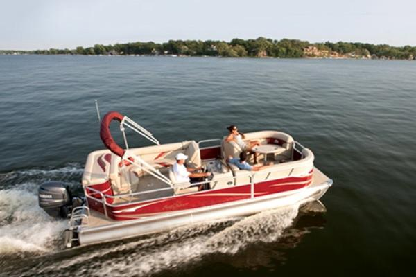 23ft and 24ft family pontoon boats holding 12 or 14 passengers depending!