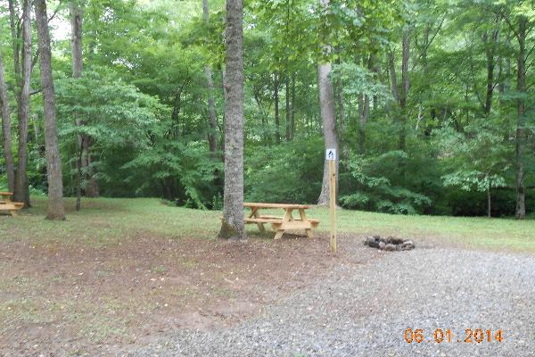 Creekside Tent Sites T1 and T2