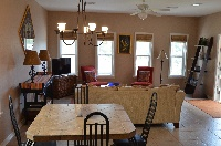 Plenty of room in the living / dining room