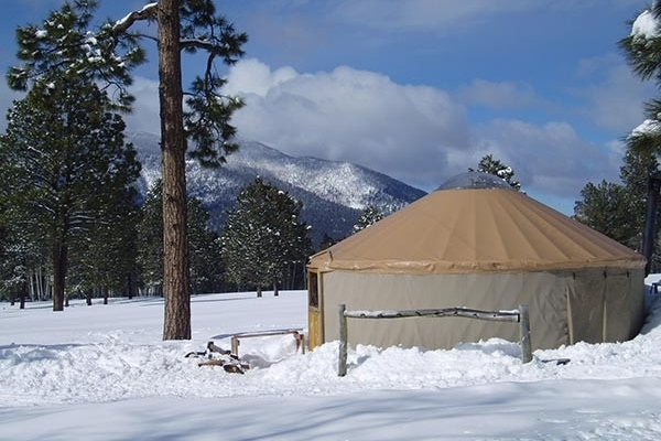Aspen Yurt in Winter
