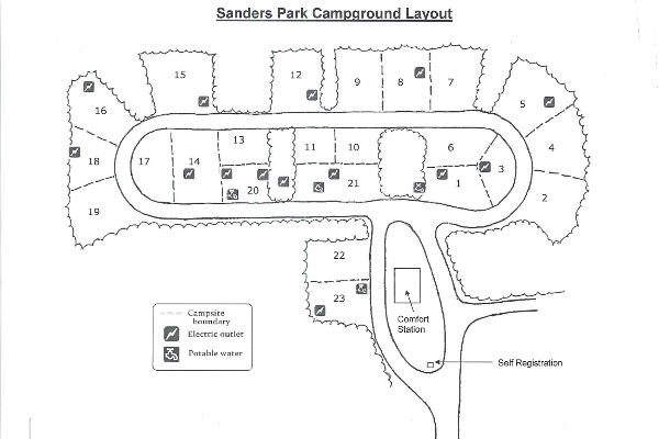 Map of Sanders Park campground