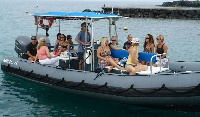 Zodiac Covered 19 passenger Snorkel Boat