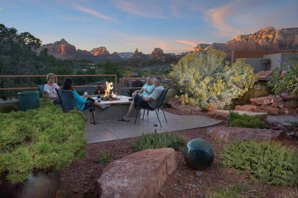 Enjoy the beautiful Arizona sunsets around our fire pit.