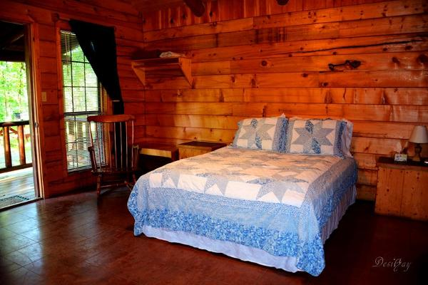 cabins #1-4  Queen Size bed